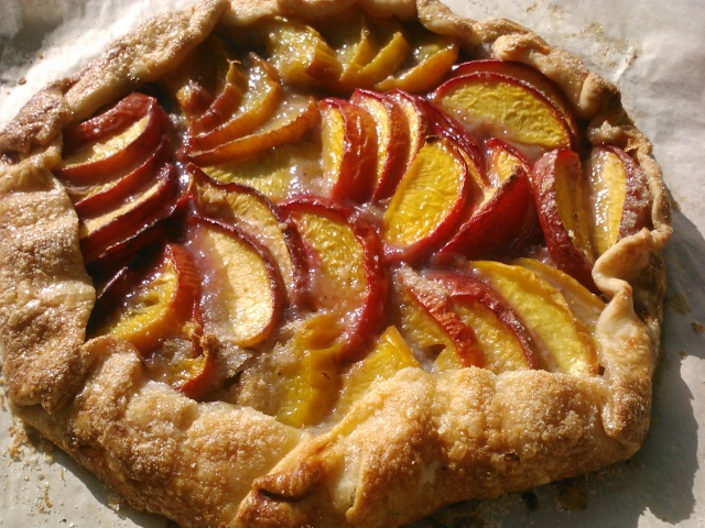 Easy-as-pie peach galette