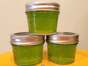 Basil jelly.  This will be great with cheese!